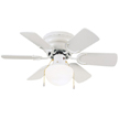 Design House 152991 Atrium 30-Inch 6-Blade Hugger Mount Ceiling Fan