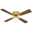 Design House Millbridge 42-Inch 1-Light 4-Blade Hugger Mount Ceiling Fan-156588