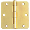 Design House 202440 6-Hole 1/4-Inch Radius Door Hinge, 3.5-Inch by 3.5-Inch