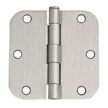 Design House 6-Hole 5/8inch Radius Door Hinge, 3.5inch by 3.5inch, Satin Nickel Finish  - 202481