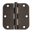Design House 6-Hole 5/8inch Radius Door Hinge, 3.5inch by 3.5inch, Oil Rubbed Bronze Finish  - 202499