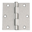 Design House 202515 6-Hole Square Door Hinge, 3.5-Inch by 3.5-Inch
