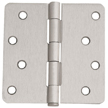 Design House 8-Hole 1/4inch Radius Door Hinge, 4inch by 4inch, Satin Nickel Finish - 202549