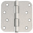 Design House 8-Hole 5/8-Inch Corner Radius Door Hinge, 4-Inch by 4-Inch - 202572