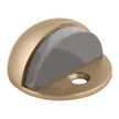 Design House 204750 Floor Mounted Dome Shaped Door Stop, Satin Brass Finish