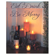 Design House Be Merry Lit Canvas Christmas Wall Decoration