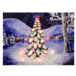 Design House Pine Tree Lit Canvas Christmas Wall Decoration,