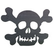 Design House Black Skull Silhouette Lawn Halloween Decoration