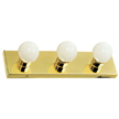 Design House 500827 The Village 3-Light Vanity, Polished Brass Finish