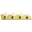 Design House 500868 The Village 4-Light Vanity, Polished Brass Finish