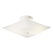 Design House 501353 2-Light 13.5-Inch White Square Glass Ceiling Mount