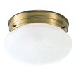 Design House 501866 1-Light Ceiling Mount, Antique Brass Finish