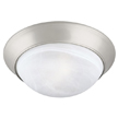 Design House 503201 2-Light Ceiling Mount Twist Off, Satin Nickel Finish