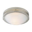 Design House  2-Light Ceiling Mount, Satin Nickel Finish - 503284