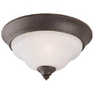 Design House 504803 2-Light Flush Mount Ceiling Light, Weathered Patina Finish