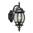 Design House Canterbury Outdoor Downlight, 6inch by 17inch, Black Die-Cast Aluminum Finish - 505545