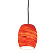 Design House Red Hot Art Glass Pendant - 505768