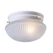 Design House Millbridge 1-Light 7.5-Inch Ceiling Mount, Textured White Finish -