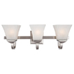 Design House 514760 Torino 3-Light Vanity Light, Satin Nickel Finish