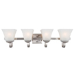 Design House 514778 Torino 4-Light Vanity Light, Satin Nickel Finish
