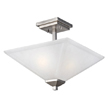 Design House 514802 Torino 2-Light Semi Flush Ceiling Light, Satin Nickel Finish