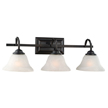 Design House 514901 Drake 3-Light Vanity Light, Oil Rubbed Bronze Finish