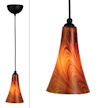 Design House 516807 Design House Carson Art Glass Light Pendant, Caramel Glass