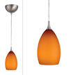 Design House 516823 Design House Preston Art Glass Light Pendant, Amber Glass