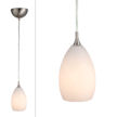 Design House Preston Collection Art Glass Pendant LIght, White Glass - 516849