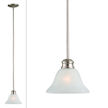 Design House Bristol 1-Light Mini Pendant, Satin Nickel Finish - 517094