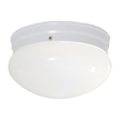 Design House 517318 1-Light Fluorescent Round Ceiling Mount, White Finish