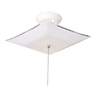 Design House 517805 2-Light White Square Glass Ceiling Mount with Chain