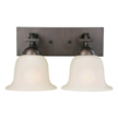 Design House 519256 Ironwood 2-Light Ironwood Wall Sconce, Brushed Bronze Finish
