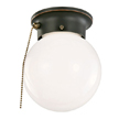 Design House 519264 1-Light Ceiling Mount Globe Light with Pull Chain