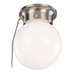 Design House 519272 1-Light Ceiling Mount Globe Light with Pull Chain