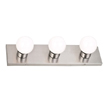 Design House 519280 3-Light Vanity Wall Sconce, Satin Nickel Finish