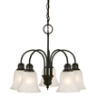 Design House 519322 Ridgeway 5-Light Chandelier, Oil Rubbed Bronze Finish