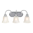 Design House 519462 Ridgeway 3-Light Wall Sconce, Satin Nickel Finish