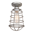 Design House Ajax 1-Light Ceiling Mount Industrial Light, Galvanized Finish - 519686