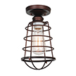 Design House 519694 Ajax 1-Light Ceiling Mount Industrial Light, Bronze Finish