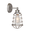 Design House 519702 Ajax 1-Light Bathroom Wall Sconce, Galvanized Finish