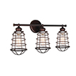 Design House 519736 Ajax 3-Light Bathroom Vanity Light, Coffee Bronze Finish