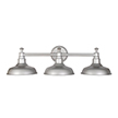 Design House 520312 Kimball 3-Light Bathroom Vanity Light, Galvanized Steel