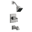 Design House 522029 Torino Tub and Shower Faucet, Satin Nickel Finish