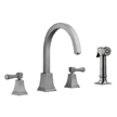 Design House 522110 Torino Kitchen Faucet with Sprayer, Satin Nickel Finish