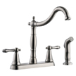 Design House 523241 Oakmont 2-Handle Kitchen Faucet with Side Sprayer