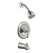 Design House 524660 Ironwood Tub and Shower Faucet, Satin Nickel Finish