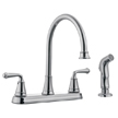 Design House 524710 Eden Kitchen Faucet with Sprayer, Polished Chrome Finish