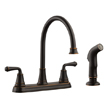 Design House 524736 Eden Kitchen Faucet with Sprayer, Oil Rubbed Bronze Finish