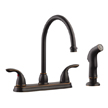 Design House 525097 Ashland High Arch Kitchen Faucet with Sprayer